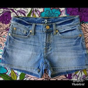 7FAM Girl's Denim Shorts